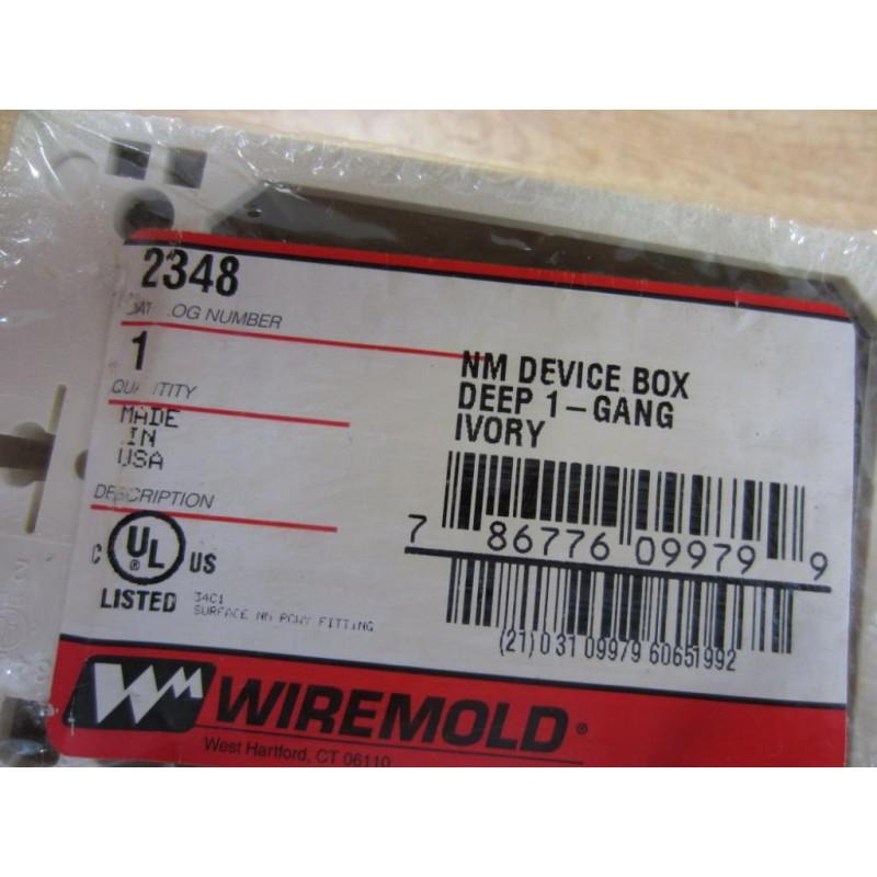Wiremold 2348 NM Device Box Deep 1-Gang Ivory - Mara Industrial