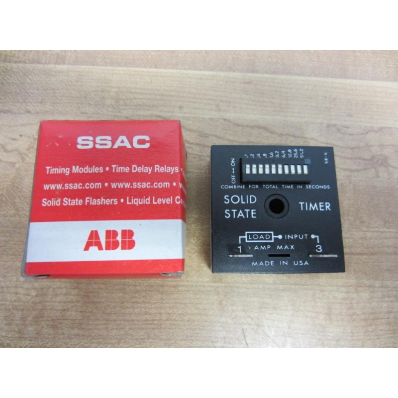 Abb Tdul3001a Abb Solid State Timer Time Delay 0 1