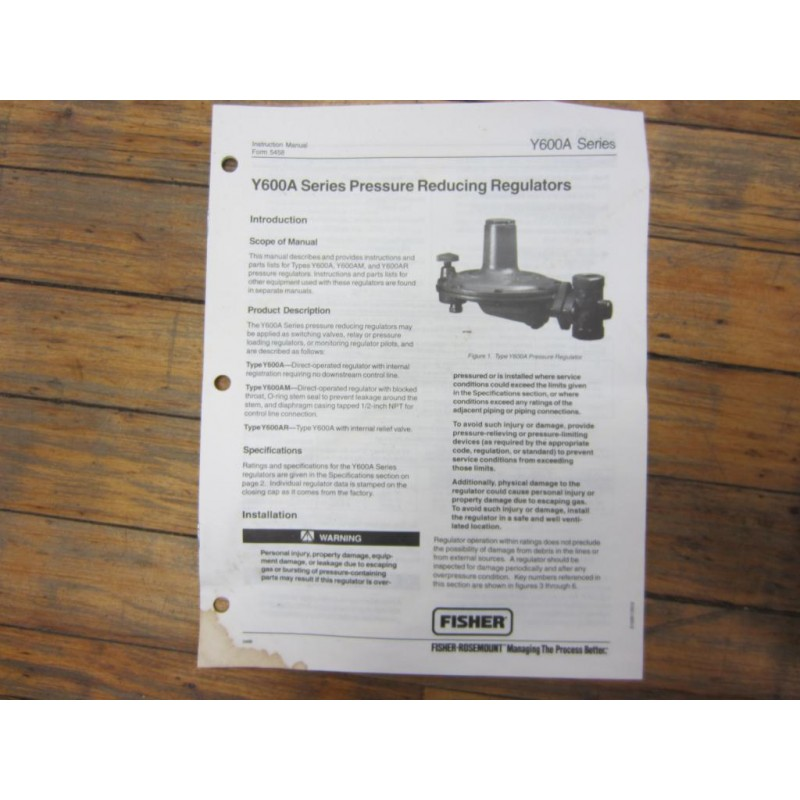 Fisher Y600A Pressure Reducing Regulator 10162 - Mara Industrial