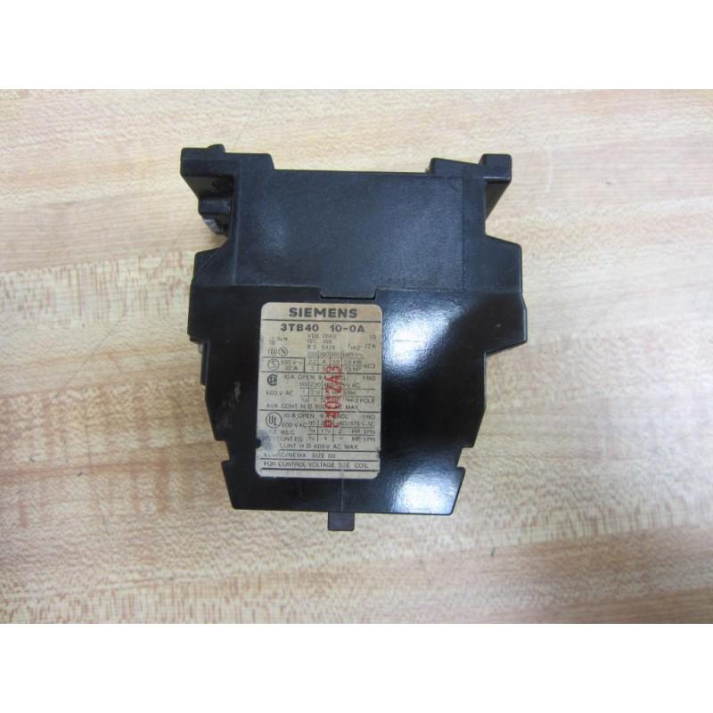 Used SIEMENS Contactor # 3TB40 10-OA