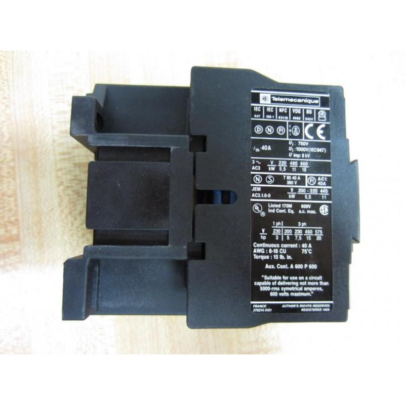 Telemecanique Lc1-d2510-g6 Contactor Lc1d2510g6