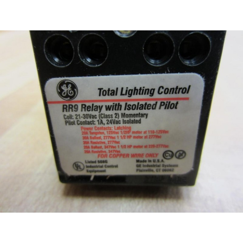 General Electric RR9P Relay With Isolated Pilot (Pack Of 2