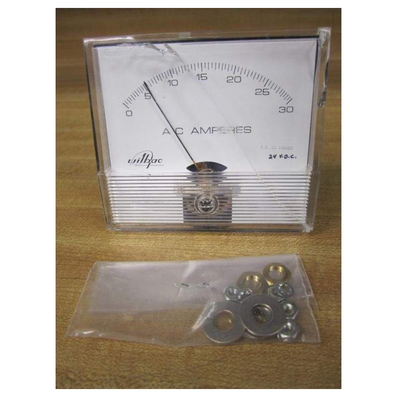 Panel Amperage Meters : Wilbac panel meter a c amps cracked housing