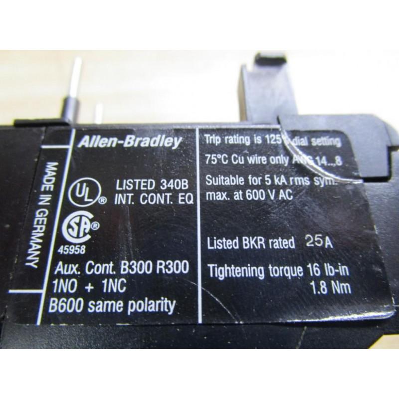 Allen Bradley 193-ta B10 Overload Relay - Used