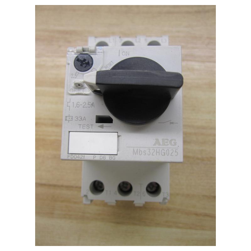 aeg mbs32hg025 manual motor starter used mara industrial. Black Bedroom Furniture Sets. Home Design Ideas