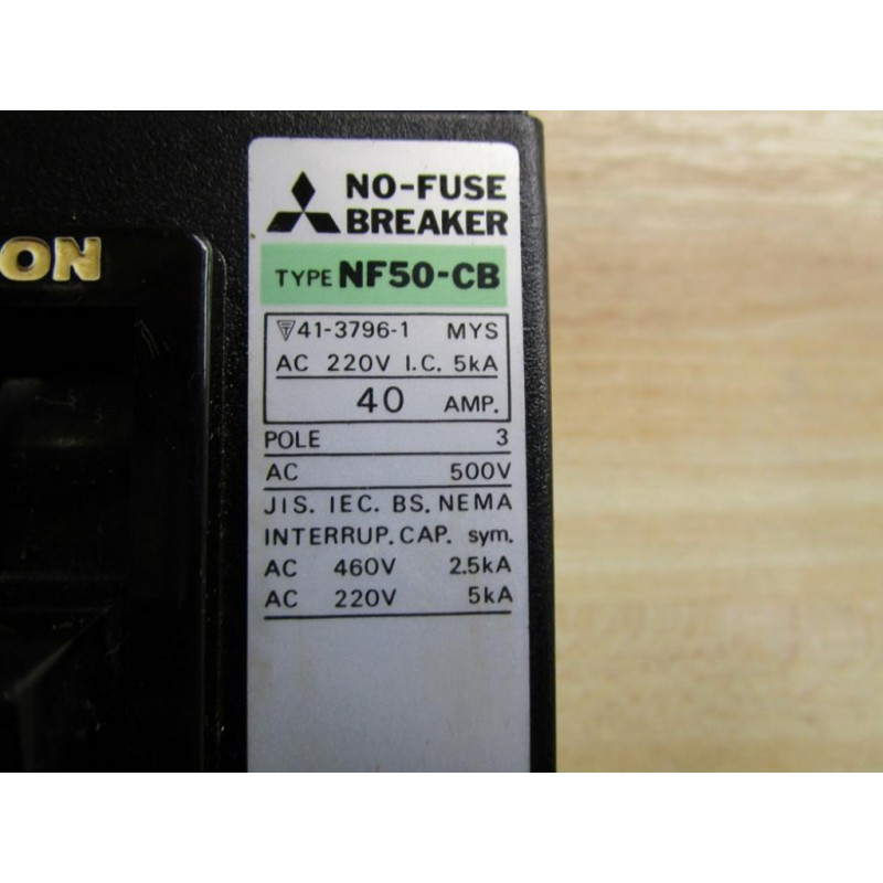 mitsubishi nf50cb circuit breaker new no box mitsubishi nf50 cb circuit breaker new no box mara industrial 2007 Mitsubishi Outlander Fuse Box at creativeand.co