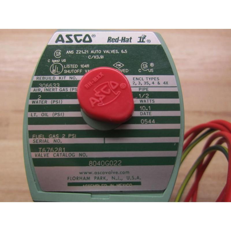 ASCO Red Hat Solenoid Valve 8040G022