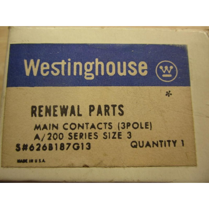 For a 200 Series *NEW* Westinghouse 626B187G13 Contact Kit Size 3