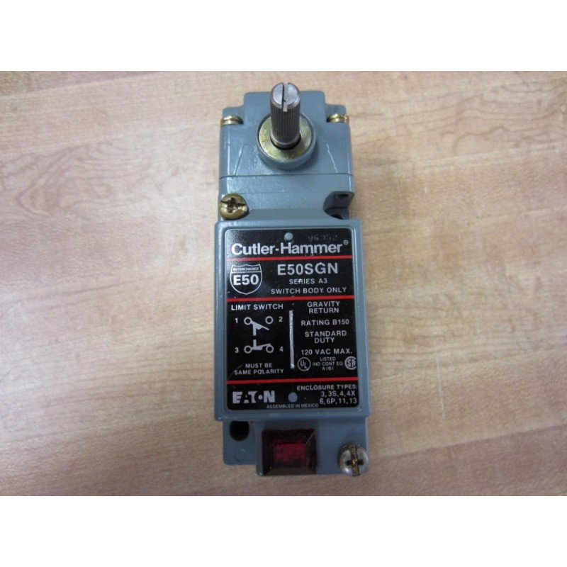 Cutler Hammer E50SGN Eaton Limit Switch Series A3 - New No