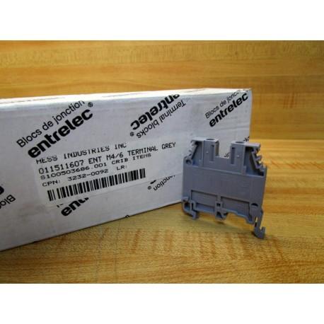 ABB Entrelec M4//6 Terminal Blocks 1SNA115116R0700 Pack of 50